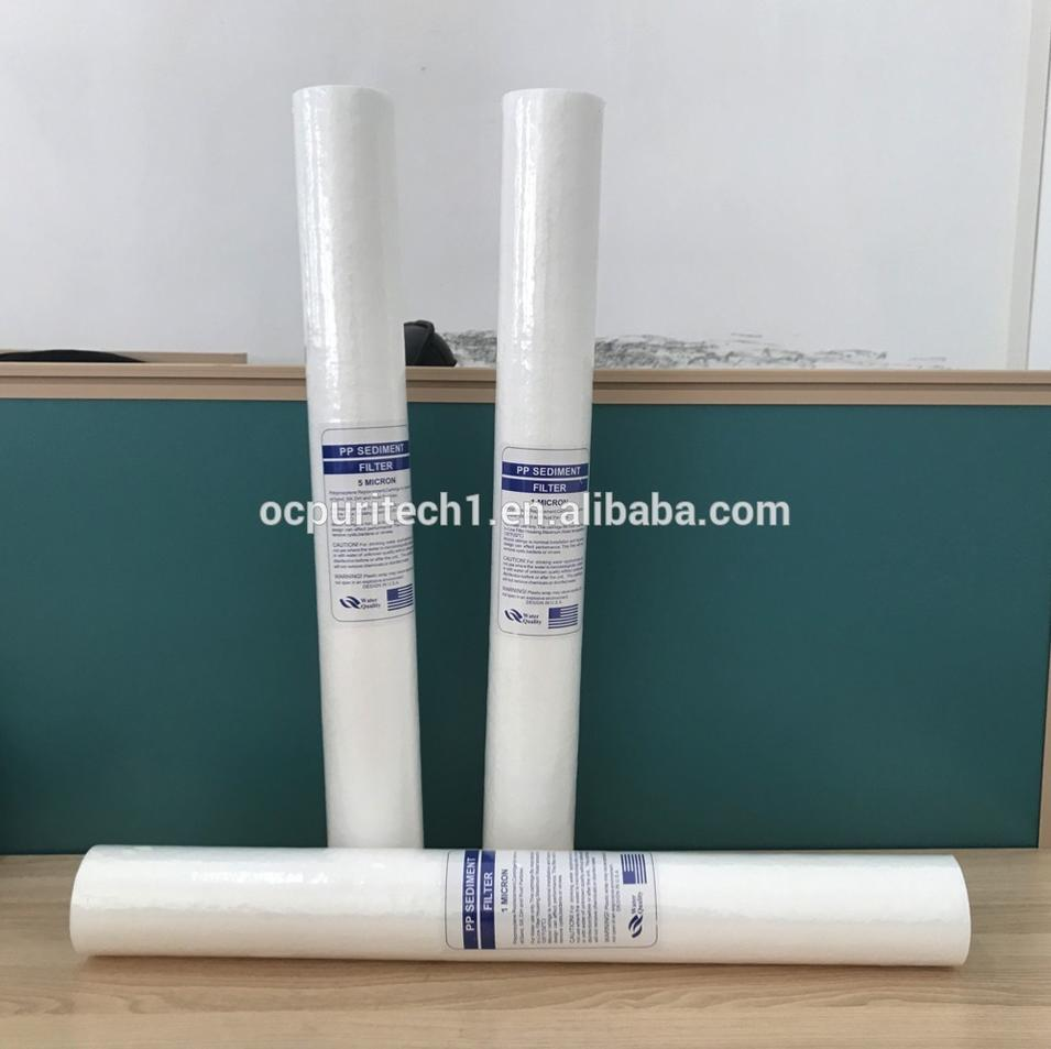 20 inches 25 micron pp spun filter cartridge