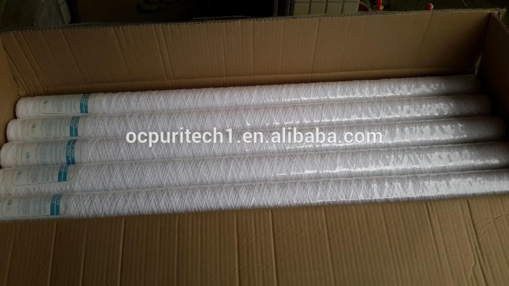 5micron 40 inch PP yarn string wound filter cartridge