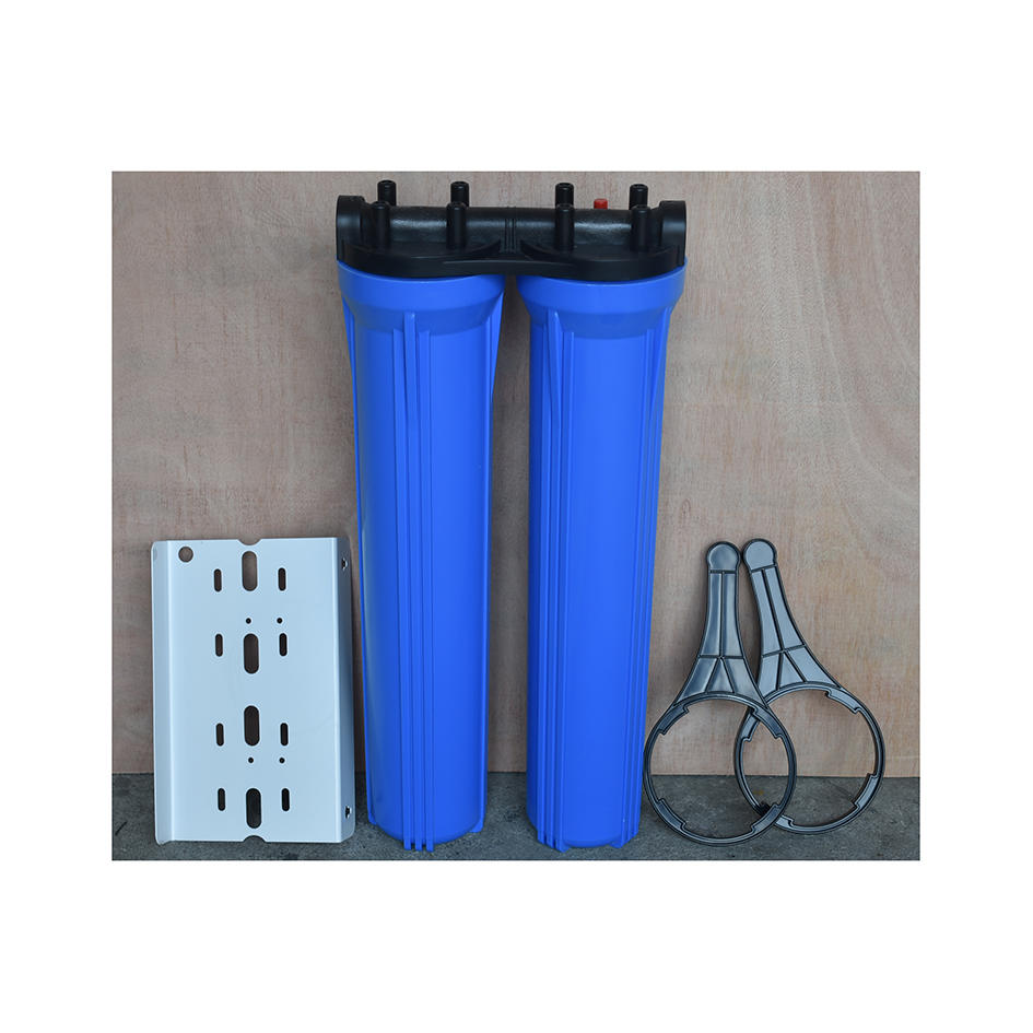 20 inch two stage blue water filter cartridge housing