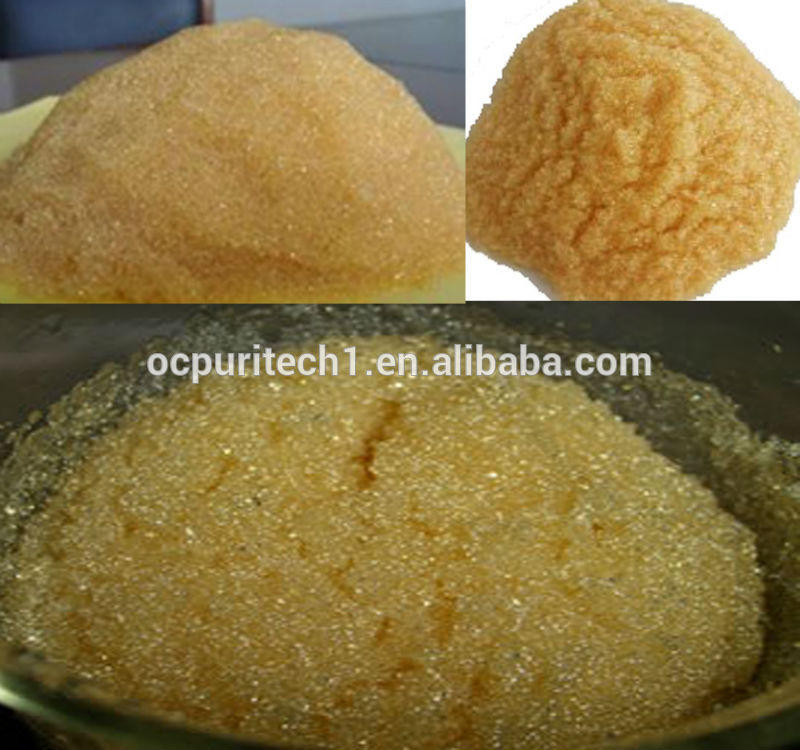 Strong Acid Cation Ion Exchange Water Softening water treatment resins