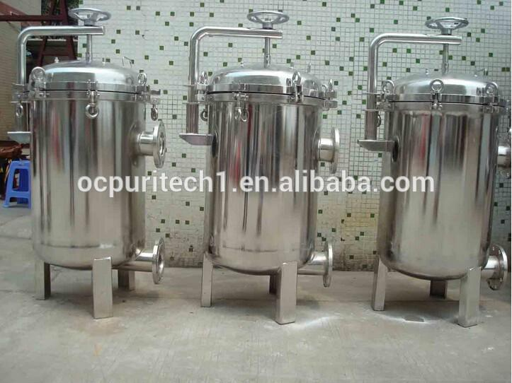 bag filter housing for water treatment system