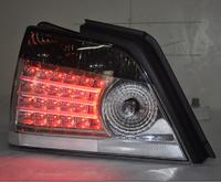 Vland Auto modified LED Tail lights for 2000 PROTON WAJA red smoke color rear light