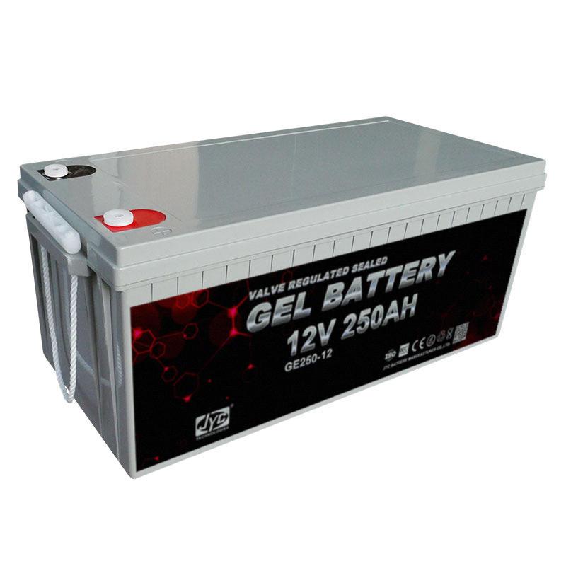 High standard 12v deep cycle gel solar batteries 250ah