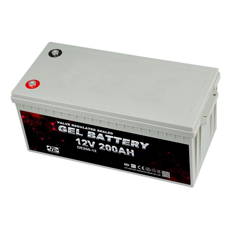 Gold supplier solar gel 12v 200ah great power battery for solar panels