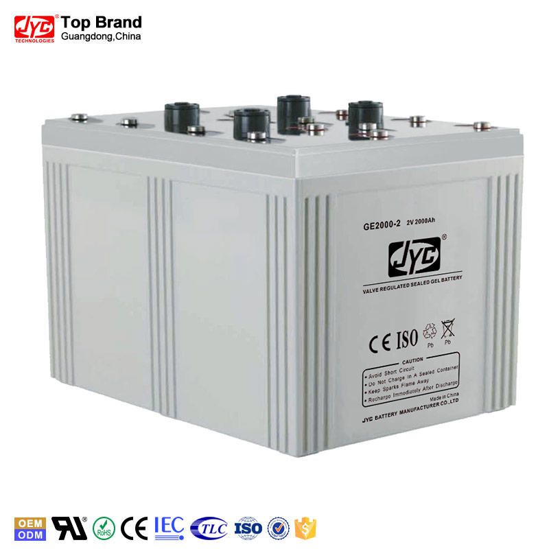 Guangzhou Manufacturer Best Price 2V 2000Ah Gel Battery for Solar Power Storage/UPS/Telecom