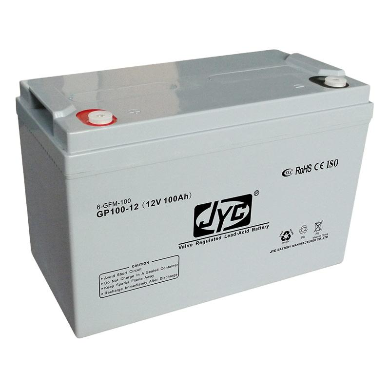 Hot Selling JYC 12V 100Ah Battery for Guangzhou PV Solar Panel 250 watt System and UPS Backup