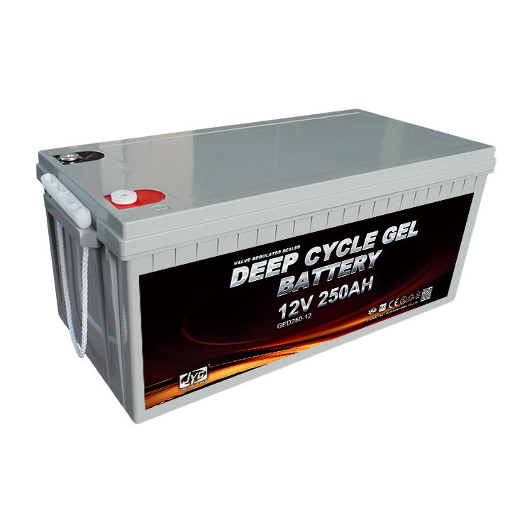 High standard 12v deep cycle gel solar batteries 250ah