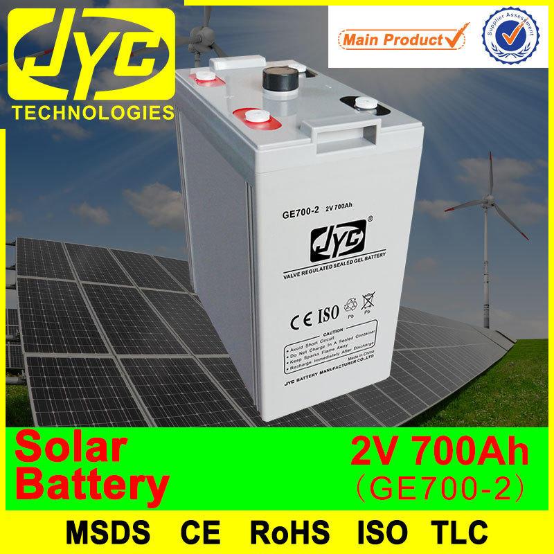 2 Volt Solar Batteries 700Ah Deep Cycle Solar Battery for Solar Power Systems