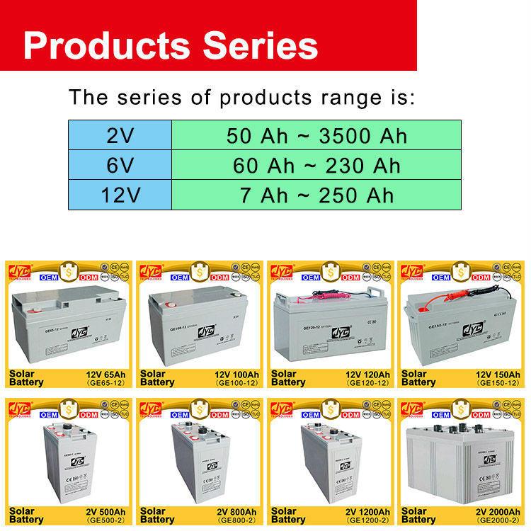 12V 200Ah Deep Cycle Solar Battery for Home Solar Systems