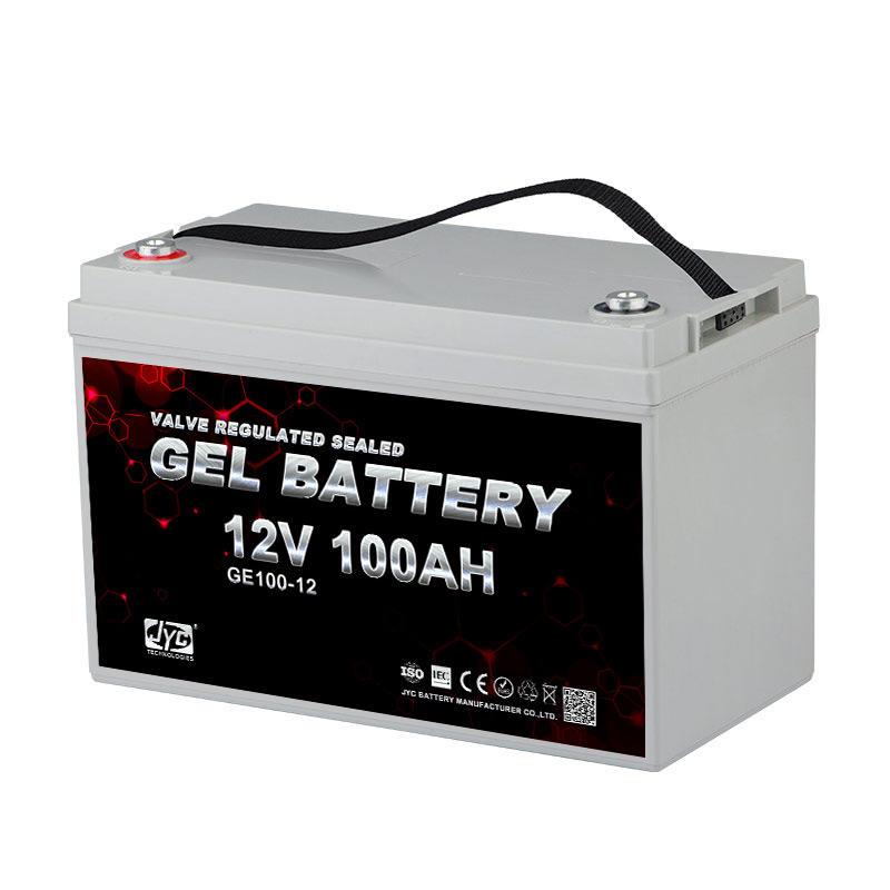 JYC RoHS 12V 100Ah Rechargeable Wind Solar Hybrid Street Light Battery for Solar Wind Hybrid System