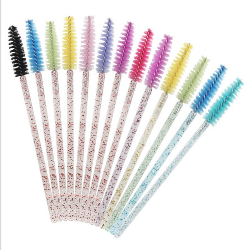 Mascara brushes glitter mascara wands custom eyelash spoolie brush