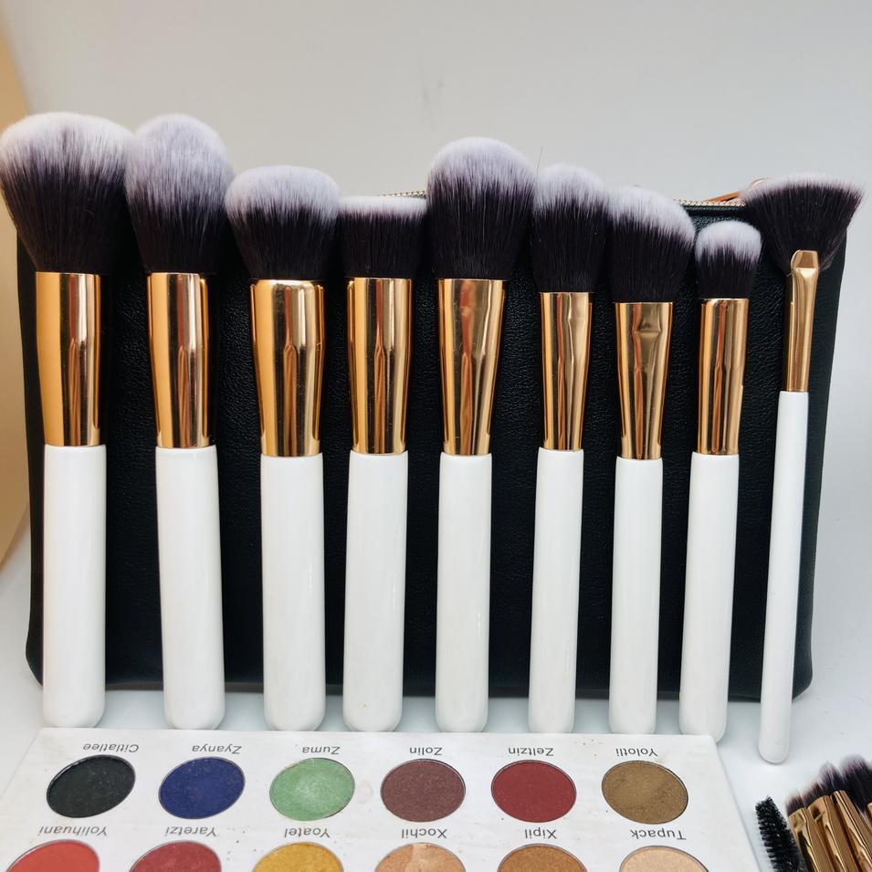 wholesale private label packaging high quality make up brushes kit professional custom logo makeup brush set