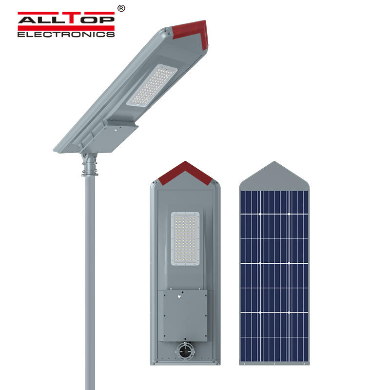 ALLTOP High lumen bridgelux smd outdoor waterproof ip65 150w integrated all in one solar led streetlight