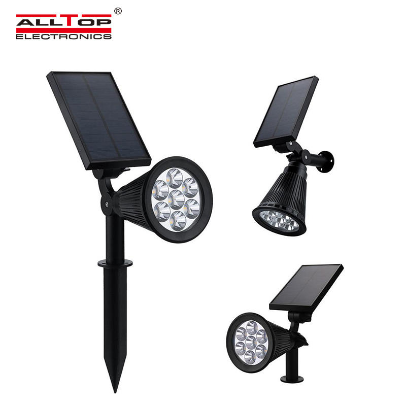 ALLTOP Energy saving outdoor waterproof IP65 4w landscape RGB solar LED spike lamp