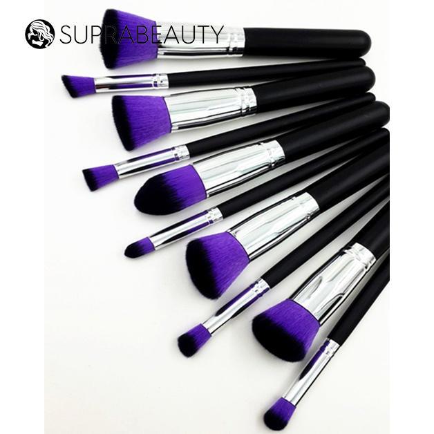 Vegan Makeup Foundation Factory Sale Professional 10pcs Cosmetic Brush Set