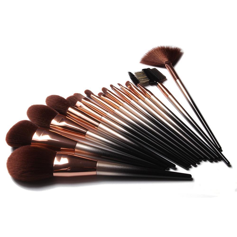 Packaging Synthetic Sable Applicator Make Up Set 16 pcs Handmade Makeup Brush