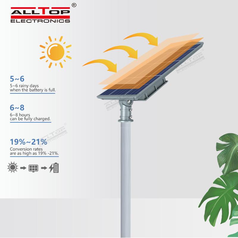 ALLTOP High lumen bridgelux smd outdoor waterproof ip65 150w integrated all in one solar led streetlight