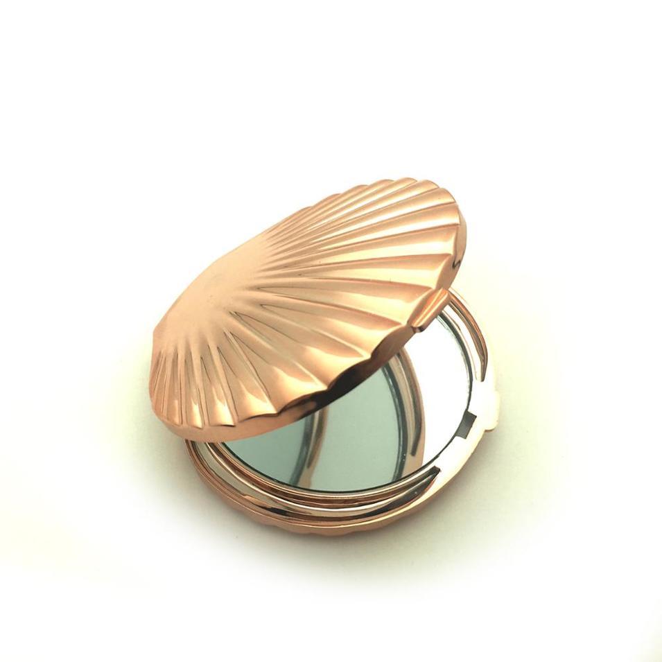 Rose gold color mermaidpocket mirror compact makeup mirror