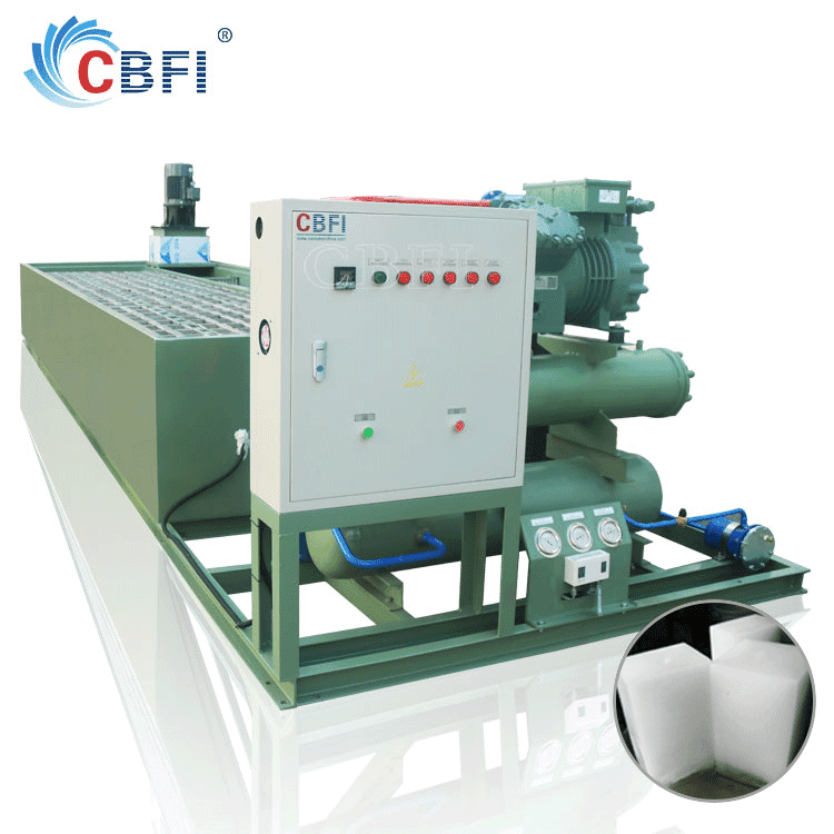 monoblock ice block making machine for plant production