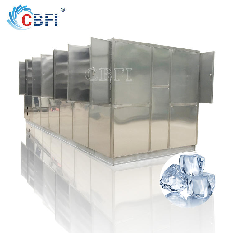 Industrial types large capacity 1 ton to 20 tons edible crystal ice cube making machine designed with automatic packing system