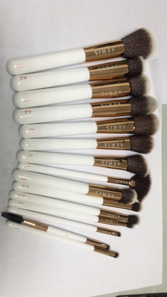 15pcs synthetic hair vegan makeup brush set free sample