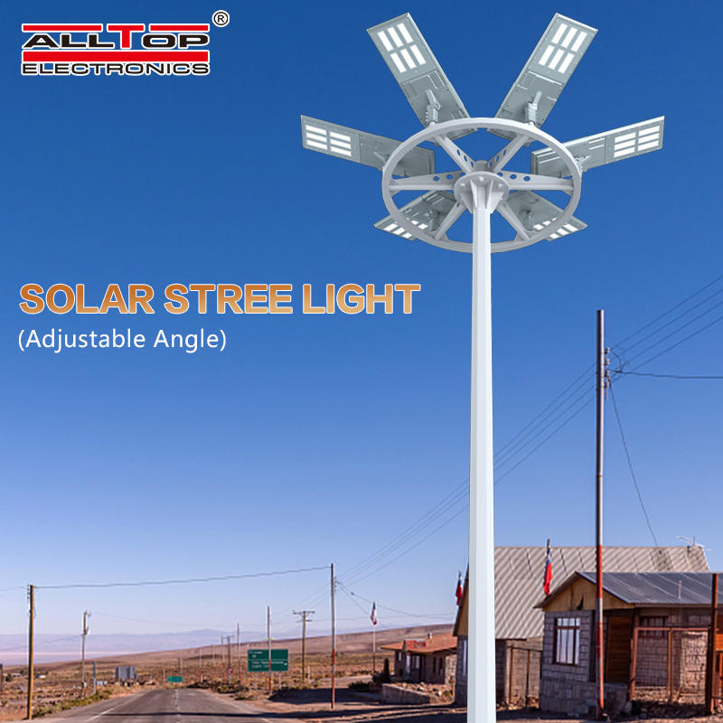 ALLTOP High power outdoor waterproof aluminum housing ip65 200w integrated all in one solar led street light