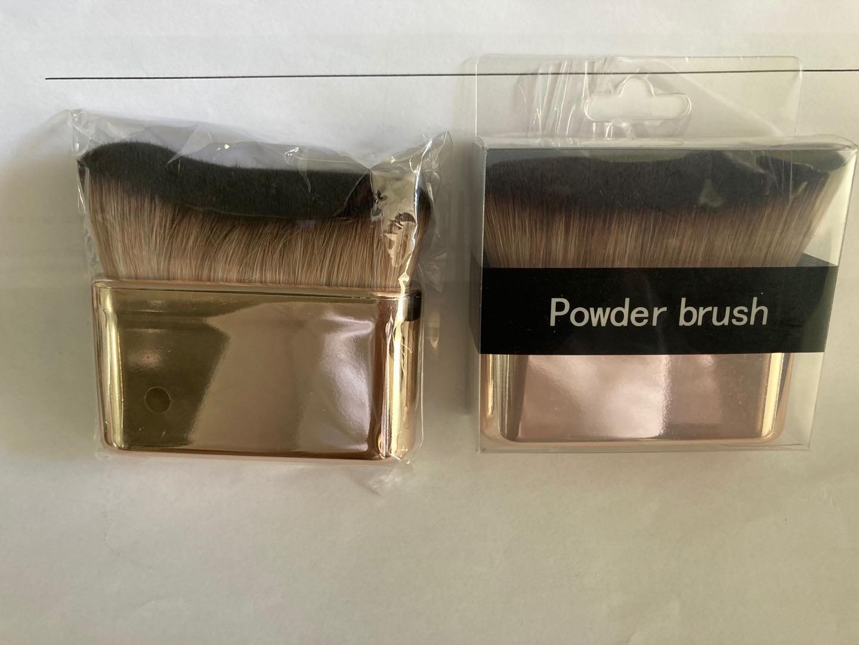 Liquid powder oval makeup brush flat private label kabuki foundation brush