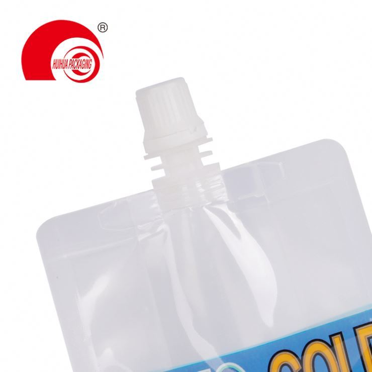 product-Custom Printed Food Grade Reusable Stand up Clear Plastic Drink Liquid Spout Pouch For Wine -1