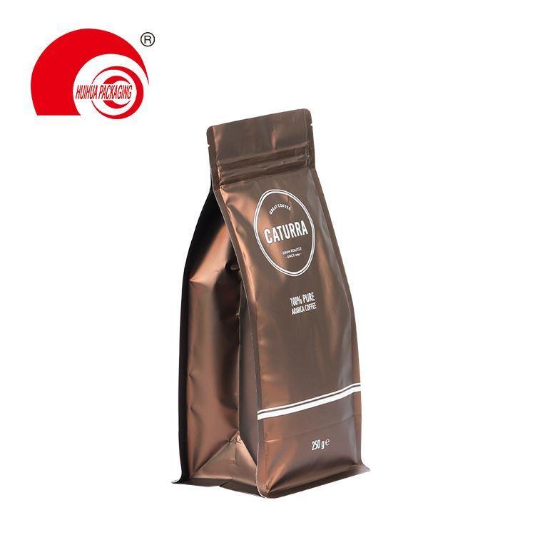 product-Huihua-Hot Selling Custom Printing Zipper Coffee Packaging Plastic Square Flat Bottom Bag-im