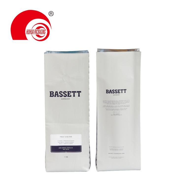 product-Huihua-Matt Aluminum Foil Quad Seal Side Gusset Bag 250g 500g 1kg Coffee Tea Packaging Pouch