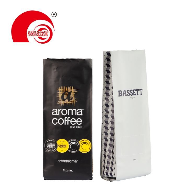 product-Glossy Mylar Foil Coffee Nuts Packaging Pouch Stand Up Zip Lock Resealable Aluminum Doypack -1