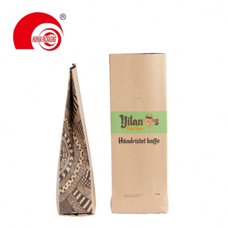 product-Huihua-Most competitive stand up side gusset foil glossy aluminium foil coffee packaging pou