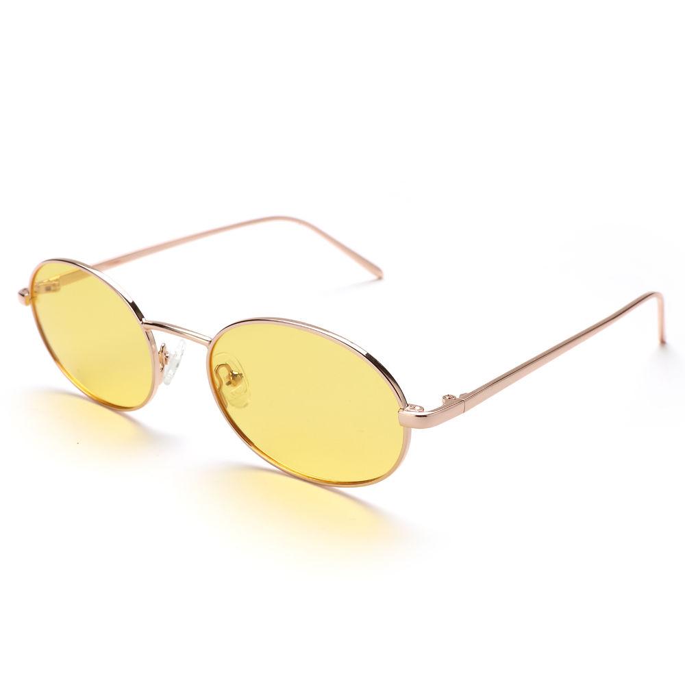 EUGENIA Customized Small Face Vintage Metal Oval Latest Design SunGlasses