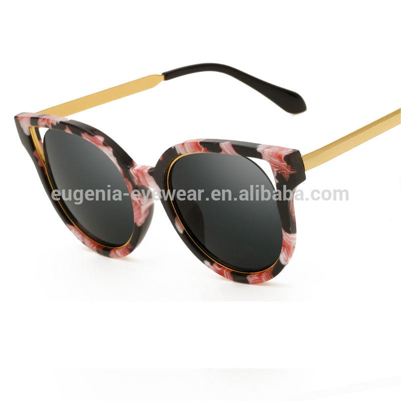 EUGENIA Ladies custom lenses fashion sun glasses new products designer metal sunglasses 2020