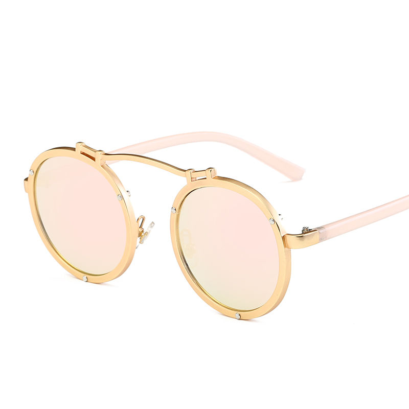 EUGENIA Wholesale Fashion Sun Glasses Polarized Metal Round Sunglasses