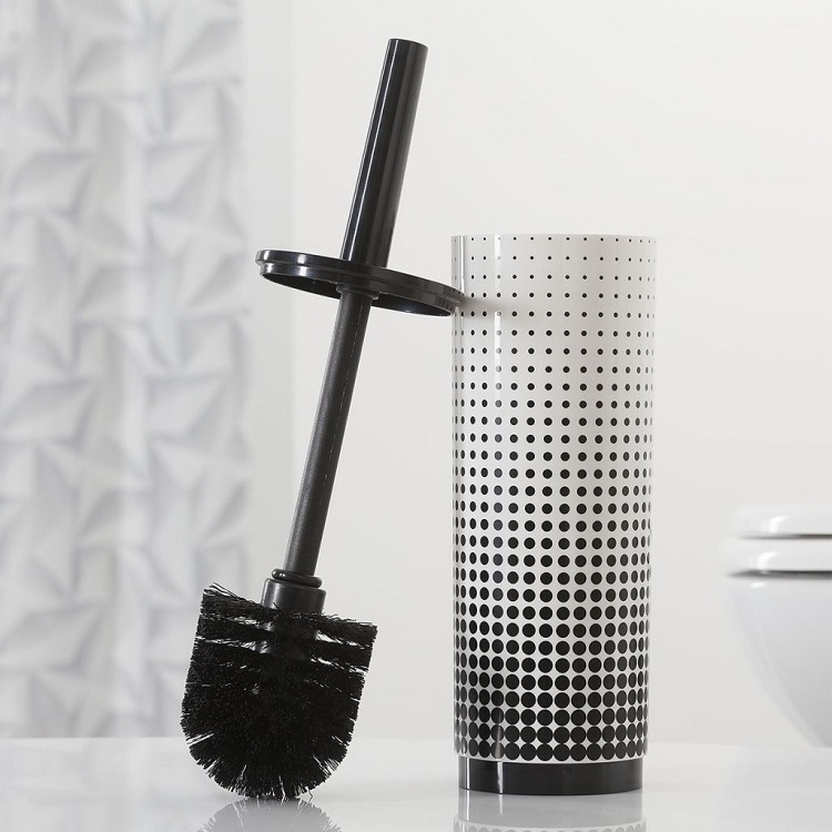 Customized Polyresin Toilet Bathroom Accessory Set With Toilet Brush Holder