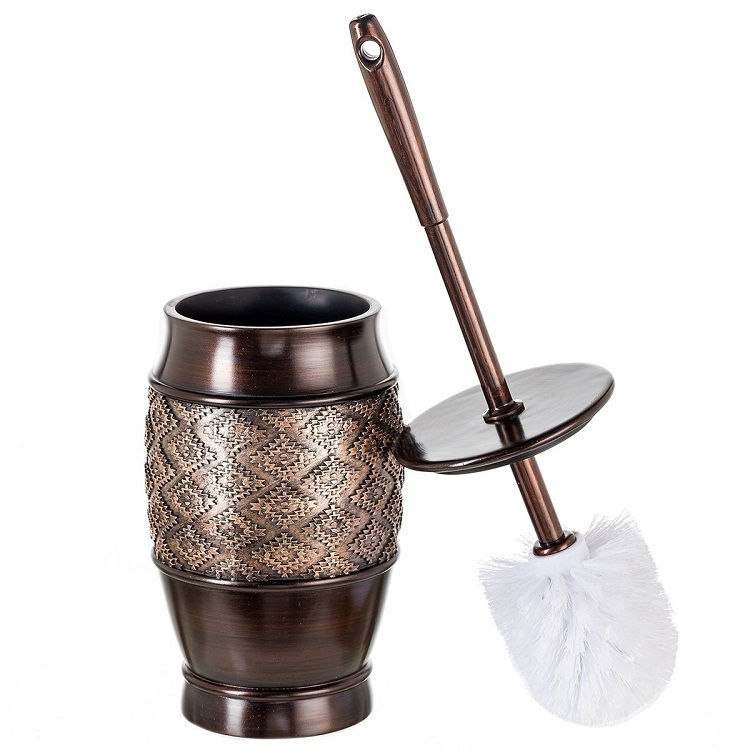 Antique Copper Brown Resin Toilet Brush Holder