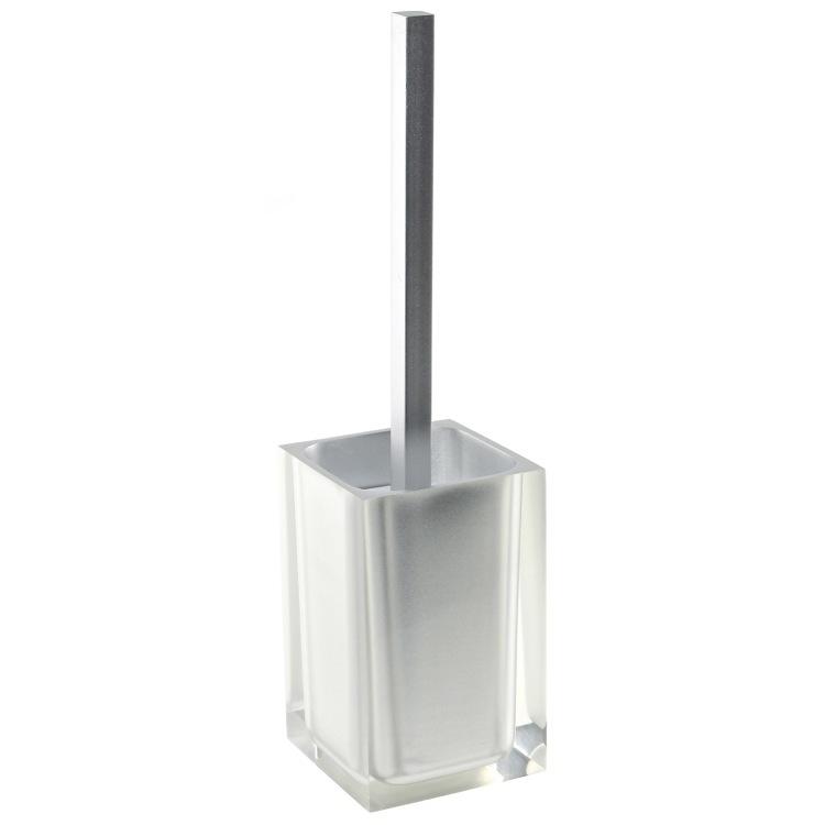 White 5 Star Hotel Resin Bathroom Accessories Toilet Brush Holders