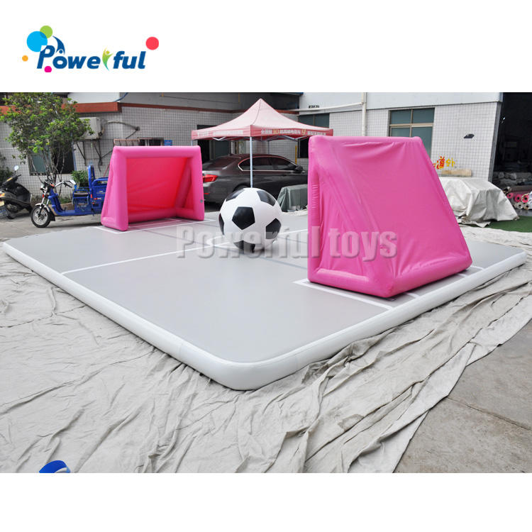 giant gymnastics inflatable tumble,inflatable air track gym mat for soccer bubble game