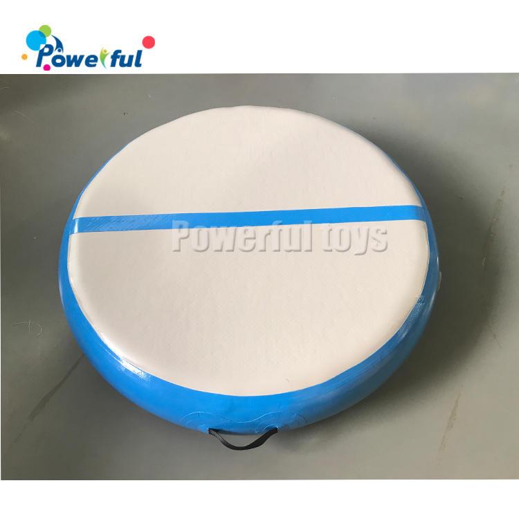 Dia 100cm x 20cm blue AirSpot inflatable round airtrack gymnastics Air Spot