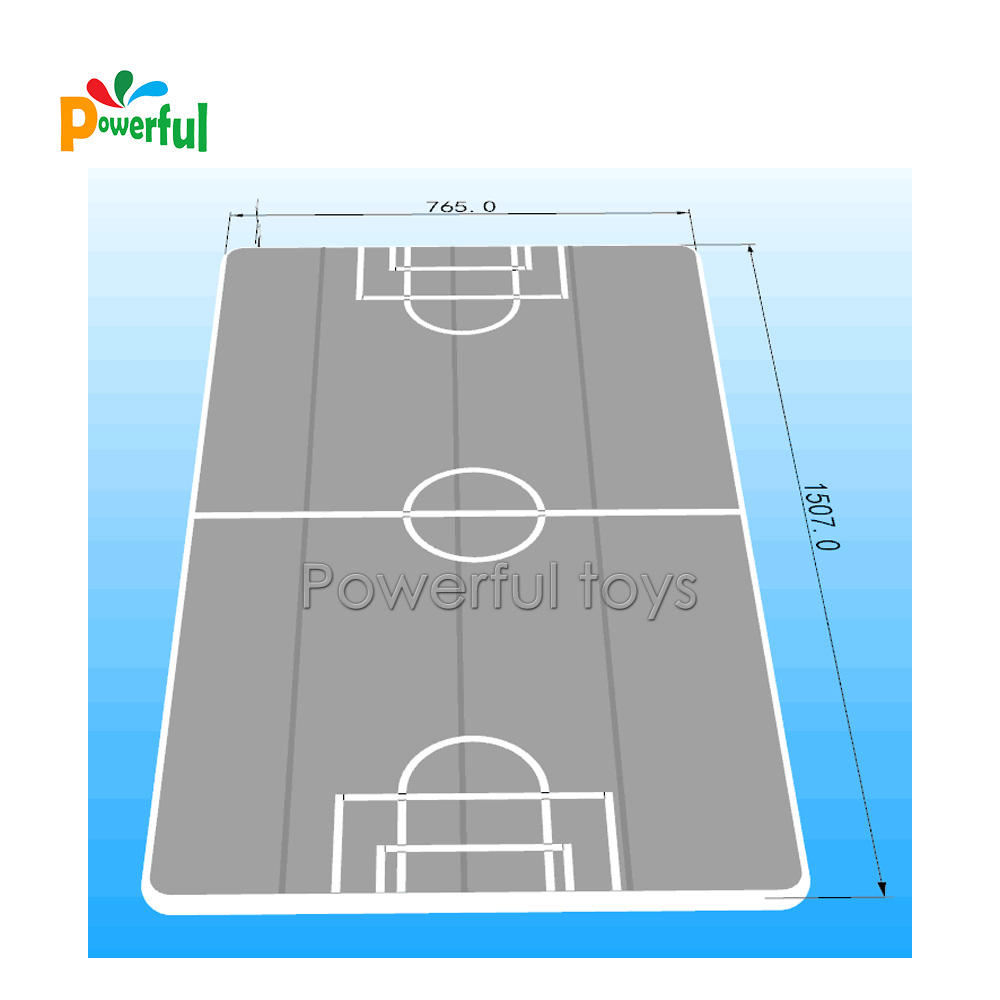 Factory pricelarge tumble football inflatable air track floor with football goal for sale