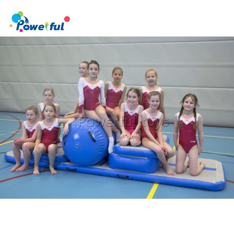 Cheerleading cheap tumbling mat set inflatable air track gymnastics