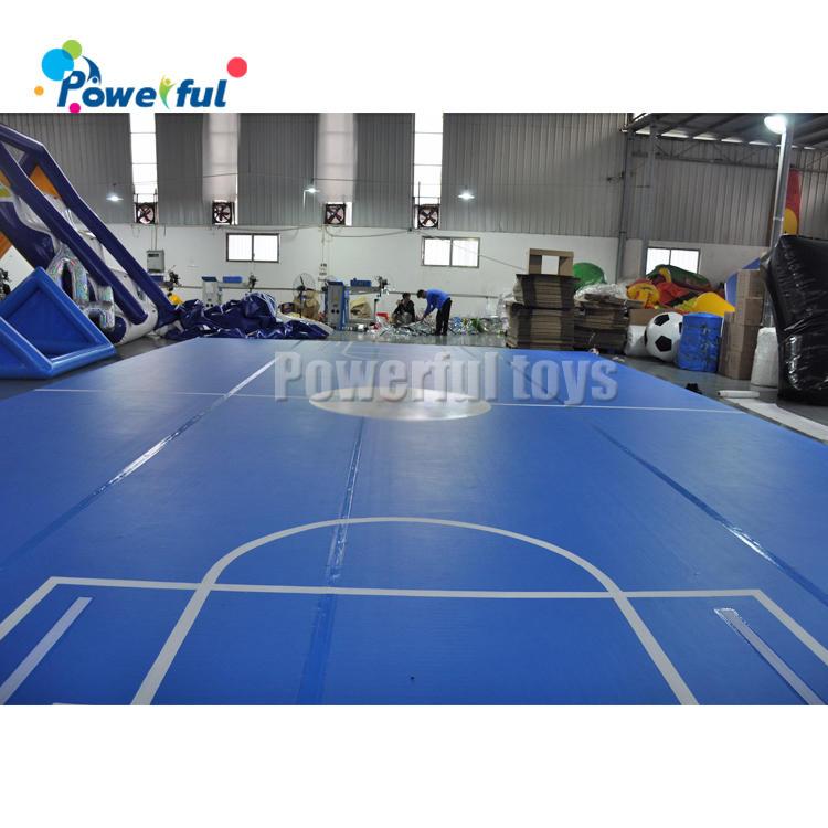 Water gamebig air floor inflatable soccer fieldinflatable air trackfor trampoline park