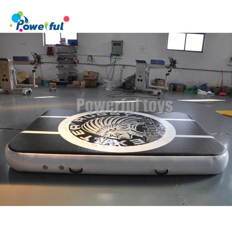 Soft 0.3mH inflatable gymnasticsair floor mat for jumping