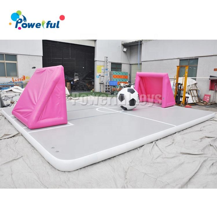 Gymnastic Mats Air Floor Large Inflatable Air Track Playground With Soccer Gate