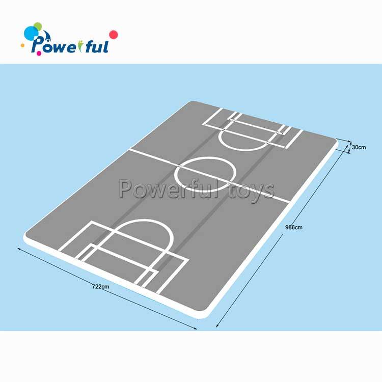 Customized inflatable soccer air track for trampoline park