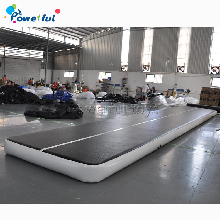 Black color track tumbling mat inflatable airfloor for sale