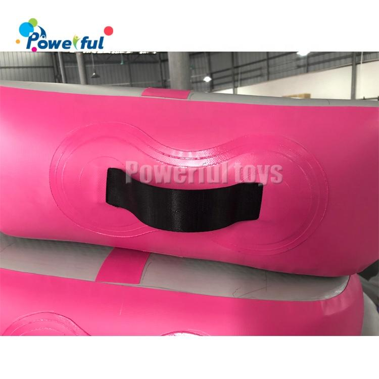 Black color small size 0.3m thickness inflatable air track for gym training