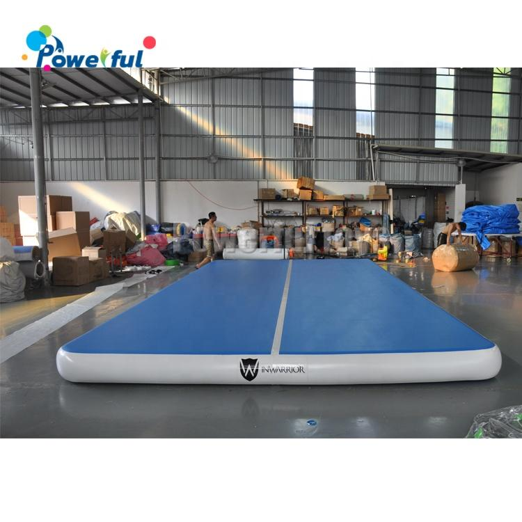 Customized size inflatable gym mat inflatable air tumble track for gymnastics training
