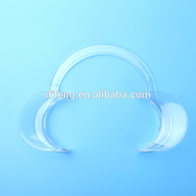 Disposable transparent C shape mouth opener / dental lip and cheek retractor for teeth whitening